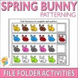 Spring Bunny Patterning File Folder Activities