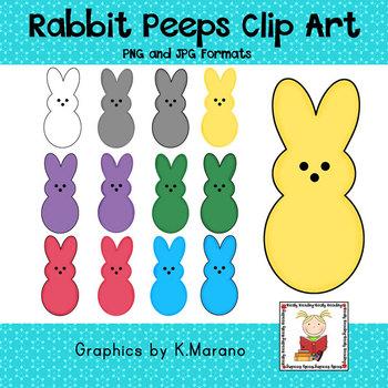 Spring Bunny Peeps Clip Art
