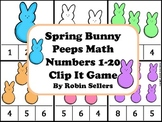Spring: Bunny Peeps Math {Numbers 1-20 Clip It Game and Math Center}