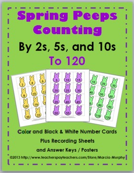 spring math skip counting worksheets activities and posters tpt. Black Bedroom Furniture Sets. Home Design Ideas