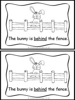 Spring Bunny Preposition Emergent Reader *Great for Grammar*