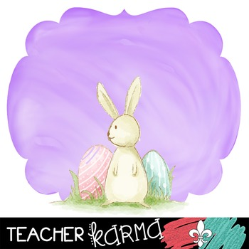 Spring Bunny Rabbit Frames **FREEBIE** ~ Watercolor ~ Commercial Use OK
