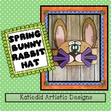 Spring Bunny Rabbit Hat, Easter Hat Craft