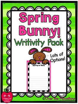 Spring Bunny Themed Writivity Pack