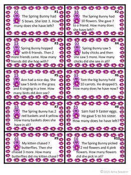 Spring Bunny Word Problem Game
