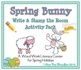Spring Bunny Write / Stamp the Room Activity Pack