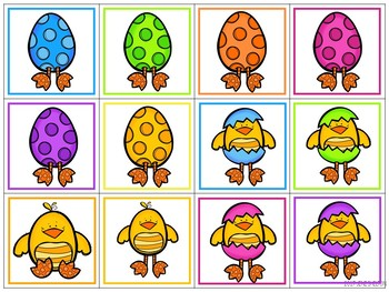 Spring Bunny and Chick Matching Activities for Toddlers, Preschool, and PreK