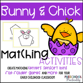 Spring Bunny and Chick Matching Activities for Toddlers, P