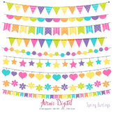 Spring Bunting Banner Clipart Scrapbook Vector Colorful Party Easter Clip art