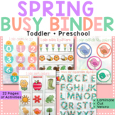 Spring Busy Binder for Toddler & Preschool - Busy Book /Le