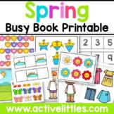 Spring Busy Book Quiet Book Activity Binder Printable - April