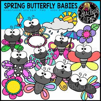 Spring Butterfly Babies Clip Art Bundle {Educlips Clipart}