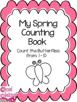 Spring Butterfly Counting Booklet Numbers 1 to 10