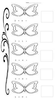 Spring Butterfly Dot Draw addition