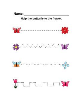 Spring Butterfly & Flower Handwriting Practice Freebie