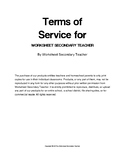 Worksheet Secondary Teacher TOS