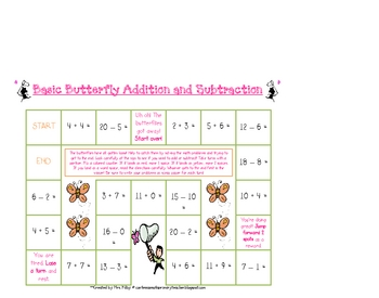 Spring Butterfly Math Pack