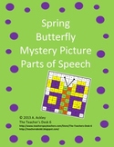 Spring Butterfly Mystery Picture Parts of Speech