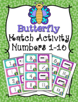 Spring Butterfly Number Match