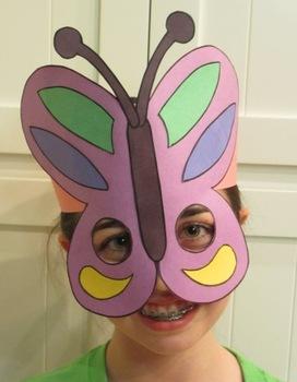 Spring Butterfly Sentence Strip Hat Mask