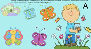 Spring Butterfly Sight Word Smartboard
