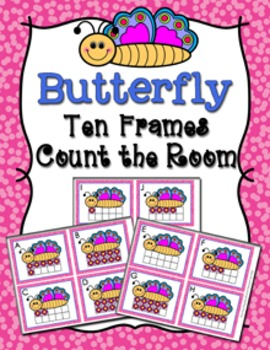 Spring Butterfly Ten Frames Count the Room