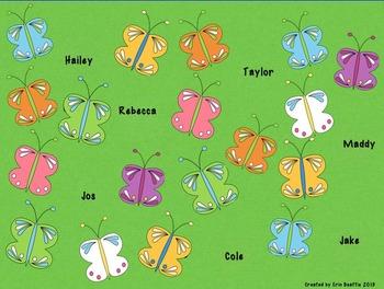 SMART Board Attendance: Butterflies
