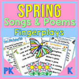 Spring ~  PK-K Poems, Songs and Fingerplays