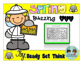 Spring Buzzing Bee (2nd and 3rd Grade Grammar - Color by Parts of Speech)