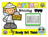 Spring Buzzing Bee (2nd and 3rd Grade Grammar - Color by P