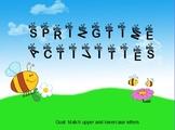 Spring Buzzing Bees Activities Free