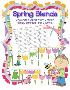 Spring CVC Blends Word Word Center