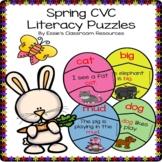 Spring CVC Literacy Puzzles
