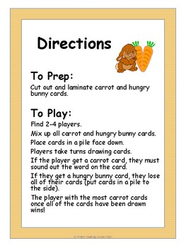 Spring CVC Word Game { Hungry Bunny }