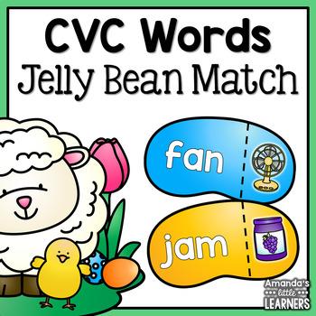 Spring CVC Word Jelly Beans