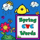 Spring CVC Word Work