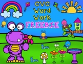 Spring CVC Word Work FREEBIE