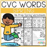 Spring   CVC Words   No Prep Worksheets Packet