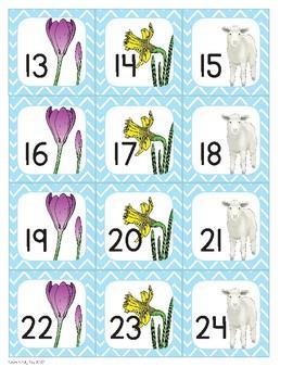 Spring Calendar Number Cards