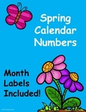 Spring Calendar Numbers (March, April, May)