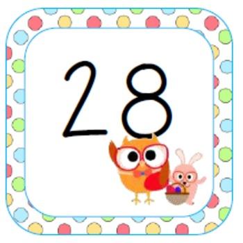 Spring Calendar Owls