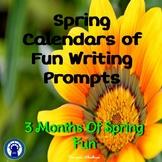Fun Writing Prompts--Spring Calendars