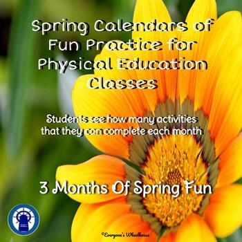 Physical Activity Calendars of P.E. Fun--Spring
