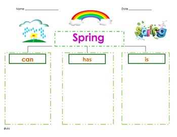 Spring- Can/Has/Is Graphic Organizer