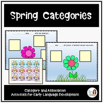 Spring Categories and Associations for Early Language Development