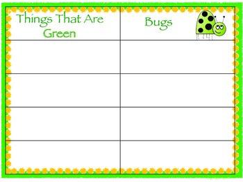 Spring Category Match Up Speech & Language Activity