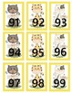 Spring Cats Numbers1-100 Number Line Pocket Chart Cards