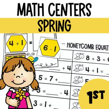 Spring Math and Literacy Center Bundle