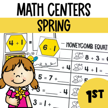 Spring Math and Literacy Center Bundle