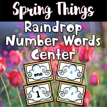 Spring Center - Raindrop Number Words